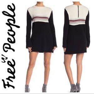 BNWT FREE PEOPLE Color Block Mini SWEATER DRESS